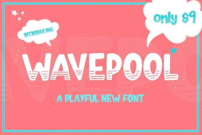 Thumbnail for Wavepool Font