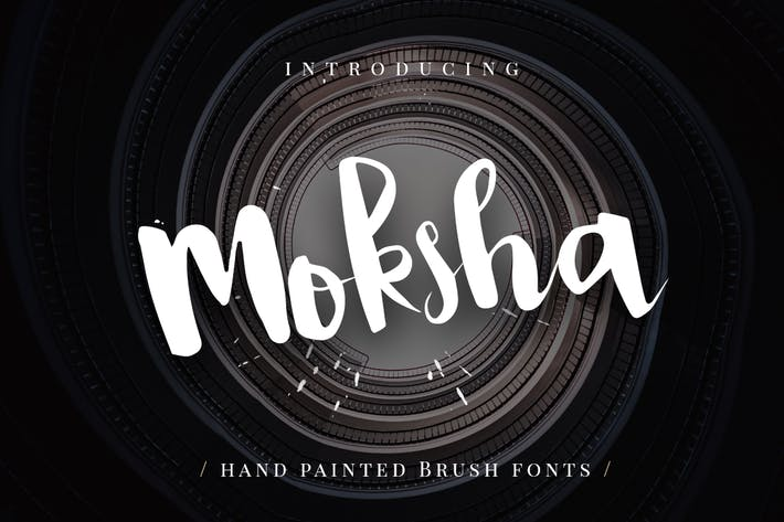 Moksha - Hand Painted Brush Font