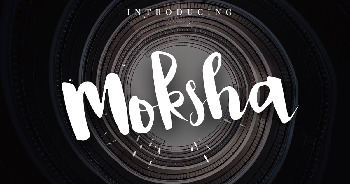 Download Moksha - Hand Painted Brush Font by micromove