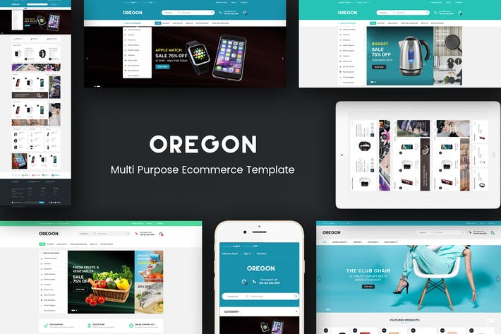 Thumbnail for Oregon - Responsive Magento Theme