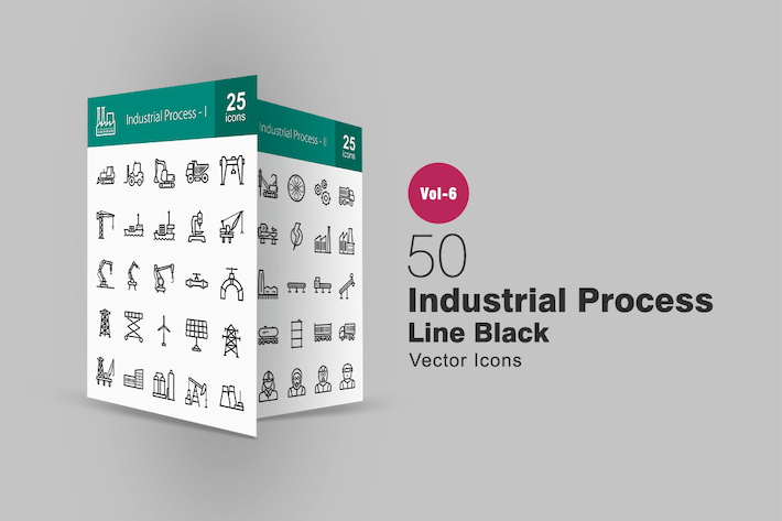 Thumbnail for 50 Industrial Process Line Icons