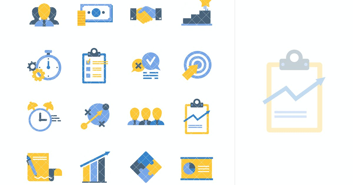 Download Flat Business Icons by Unknow