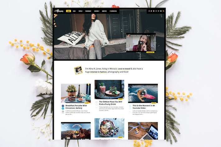 Thumbnail for Alinan - Personal Blog / Vlog WordPress Theme