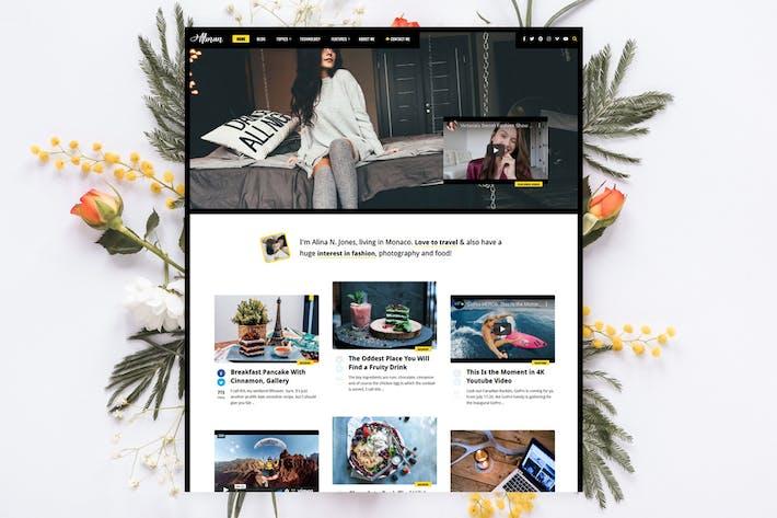 Thumbnail for Alinan - Blog Personal/Vlog WordPress Tema