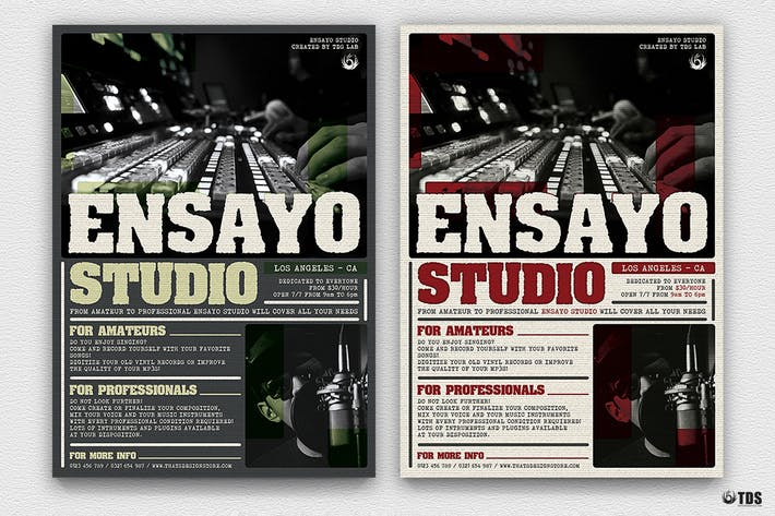Thumbnail for Music Studio Flyer Template