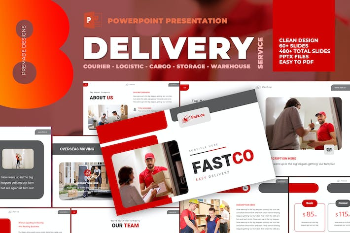 Thumbnail for Delivery Courier Powerpoint Template