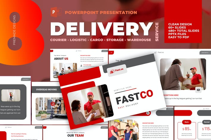 Cover Image For Delivery Courier Powerpoint Template