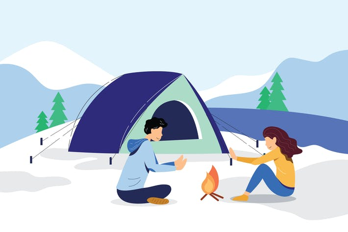 Thumbnail for Summer Camp Vector Illustration