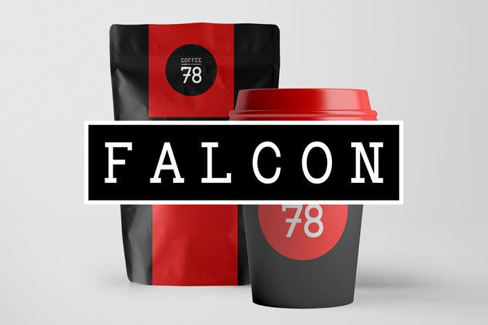 Thumbnail for FALCON - Hybrid Slab-Serif / Mechanistic Typeface