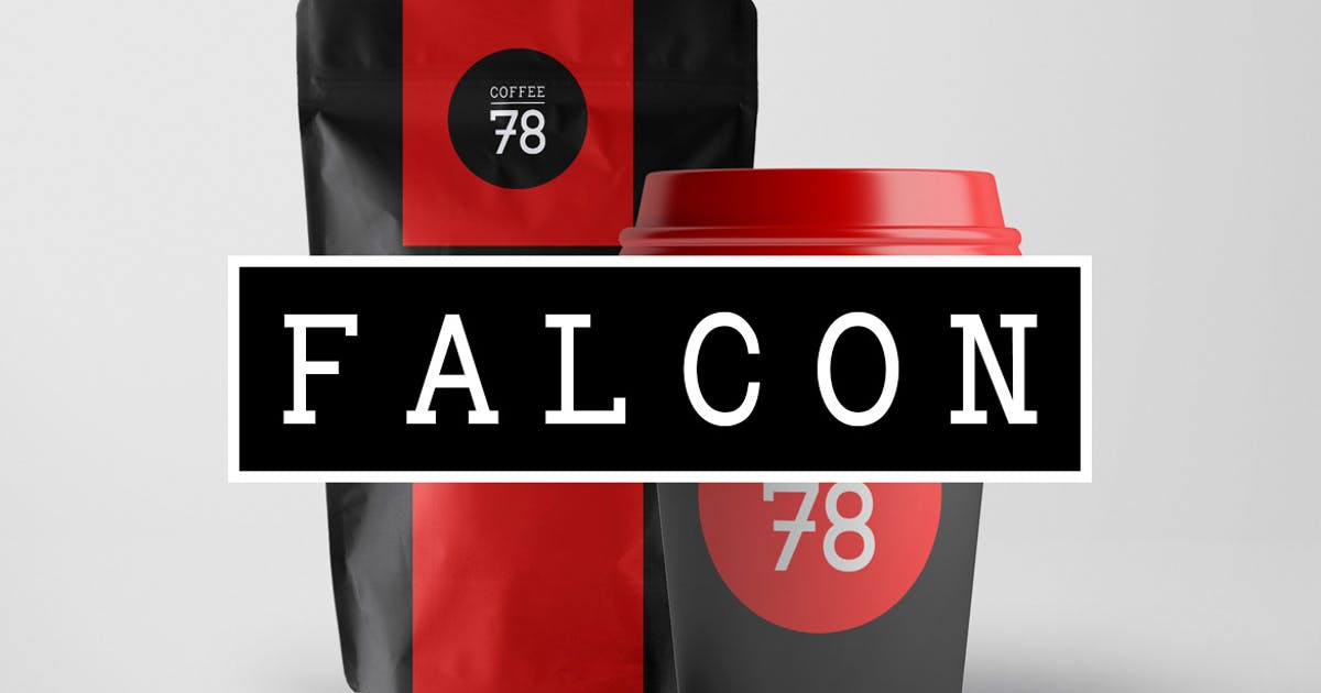 FALCON - Hybrid Slab-Serif / Mechanistic Typeface by designova