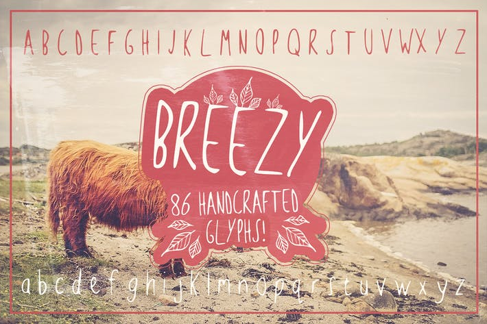Thumbnail for Breezy Handsketched Font