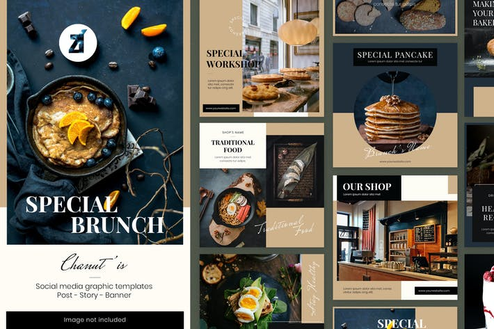 Thumbnail for Brunch social media graphic templates