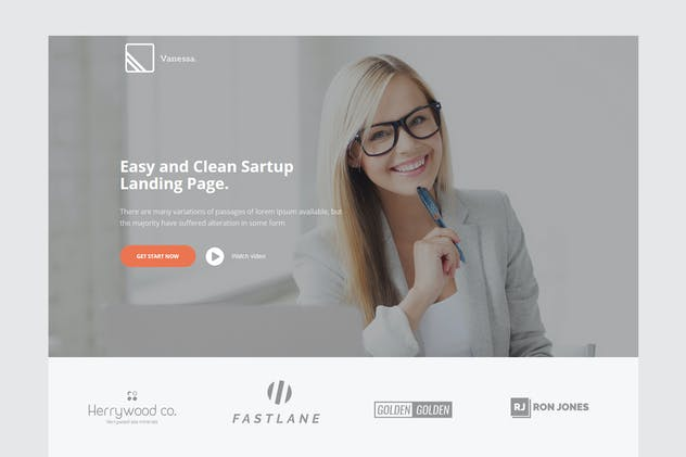Vanessa Easy Startup Landing Page