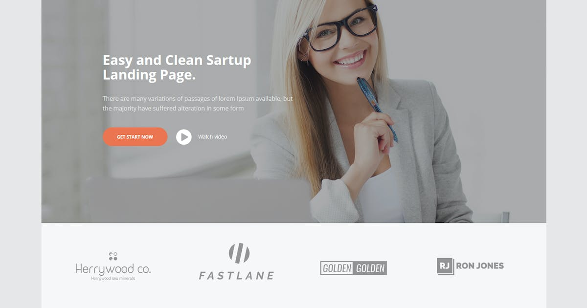 Download Vanessa Easy Startup Landing Page by xvelopers