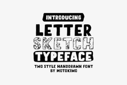 Письмо-Sketch шрифт