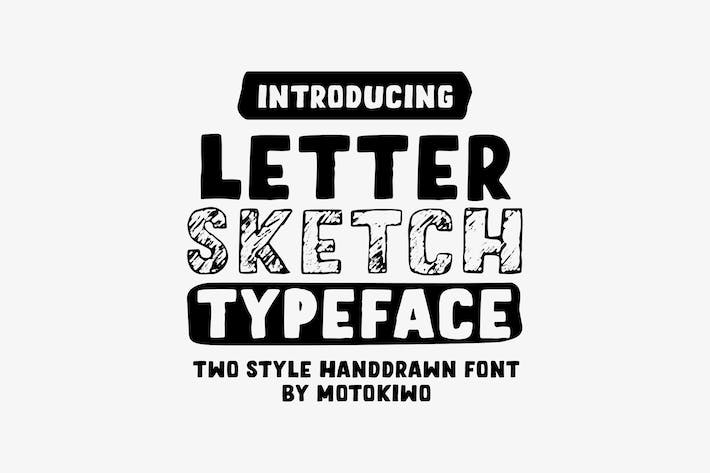 Thumbnail for Letter Sketch Typeface