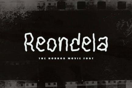 Reondela - The Horror Movie Font