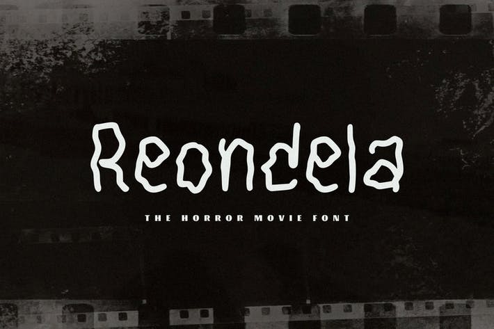 Thumbnail for Reondela - The Horror Movie Font