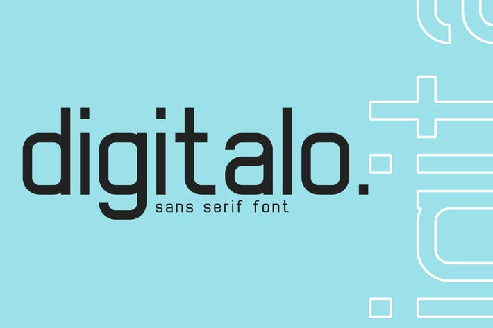 Thumbnail for digitalo - digital font