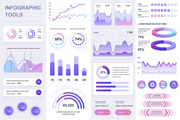 Simple Infographics Template Visualization
