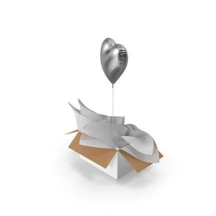 Silver Heart Balloon Surprise Box