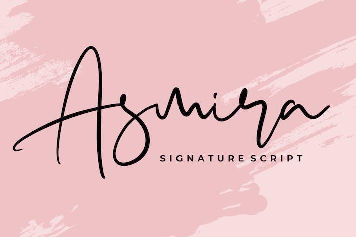 Cover Image For Asmira Signature Script Font