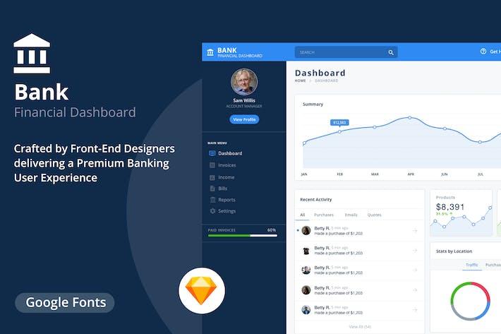 Thumbnail for Finance Dashboard Template