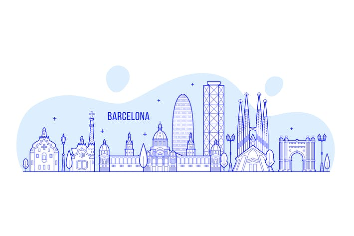Thumbnail for Barcelona skyline, Spain