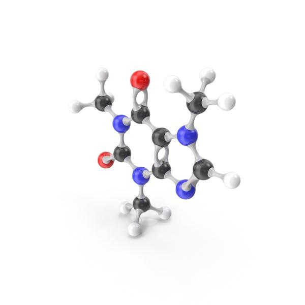 Modelo Molecular de Cafeína