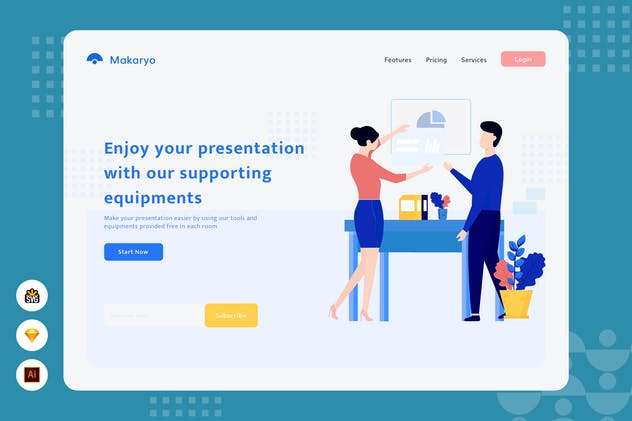 Enjoy your presentation - Website Header Illustrat