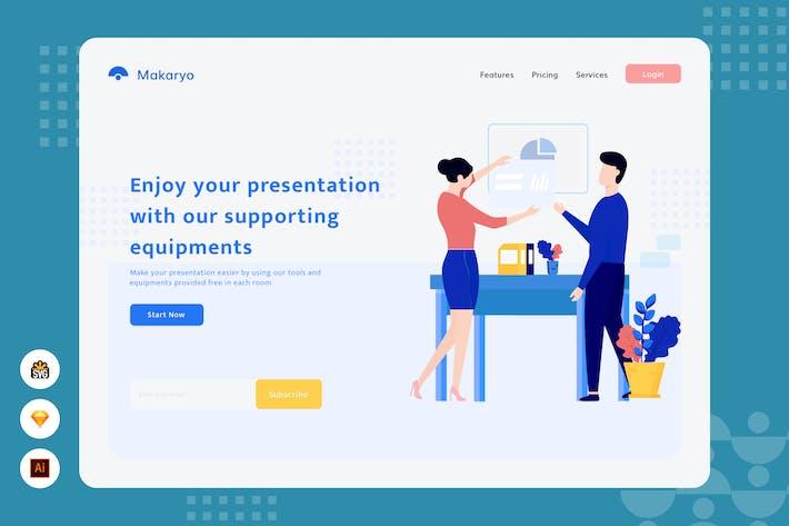 Thumbnail for Enjoy your presentation - Website Header Illustrat