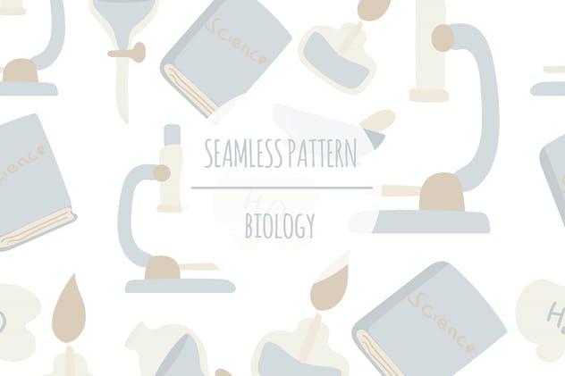 Biology – Seamless Pattern