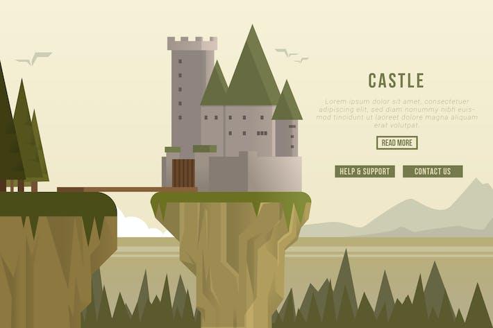 Thumbnail for Castle - Vector Landscape & Building