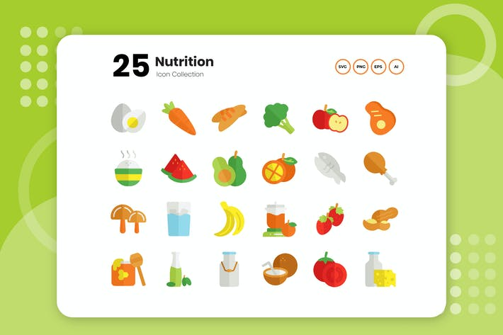 Thumbnail for 25 Nutrition Flat Icon