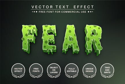Scary zombie - editable text effect,  font style