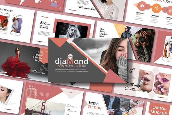 Thumbnail for DIAMOND - Fashion Keynote Template
