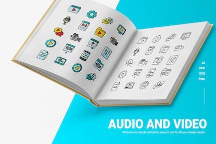 Audio & Vidio - Icons