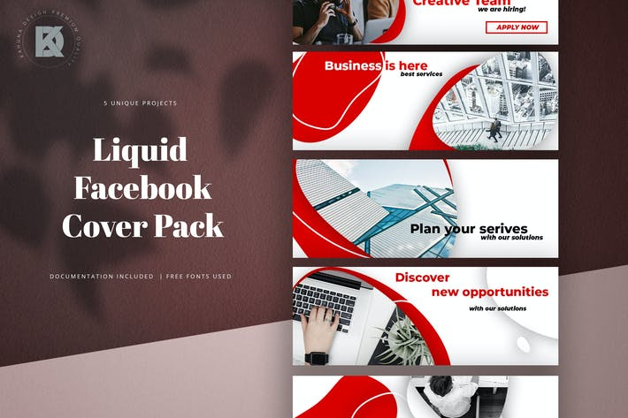 Thumbnail for Liquid Business Facebook Cover Pack