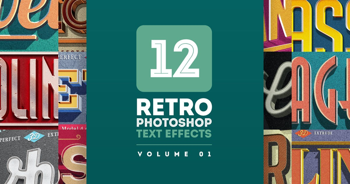 Download Retro Text Effects V.01 by Easybrandz2
