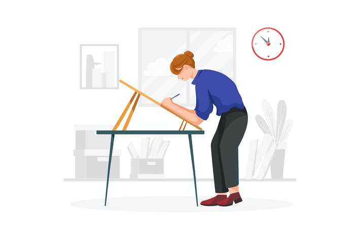 Thumbnail for Information architect vector illustration concept