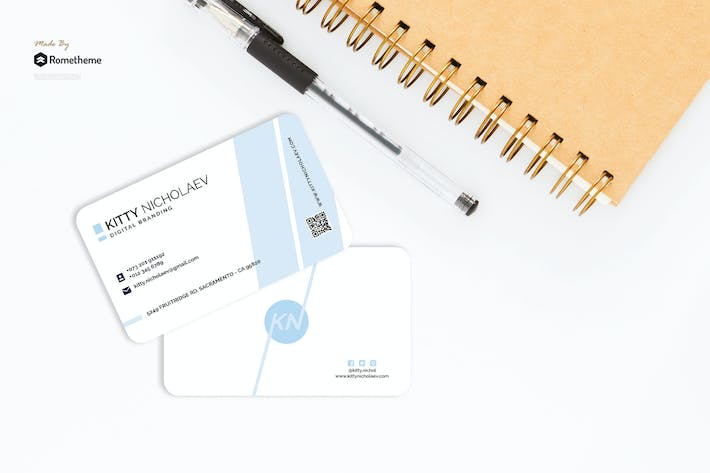 Thumbnail for Pose - Clean Fashion Business Card RY