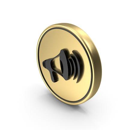 Volume Sound Speak Logo Coin Icon