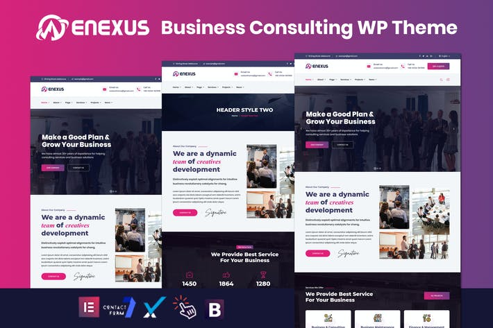 Thumbnail for Enexus - Consulting Business Elementor WordPress