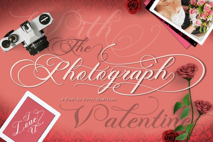 Cover Image For Photograph - Script Wedding Font