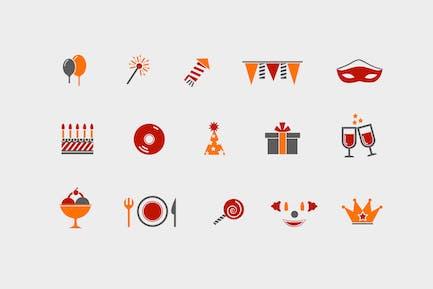 12 Icons für Partys und Feiern