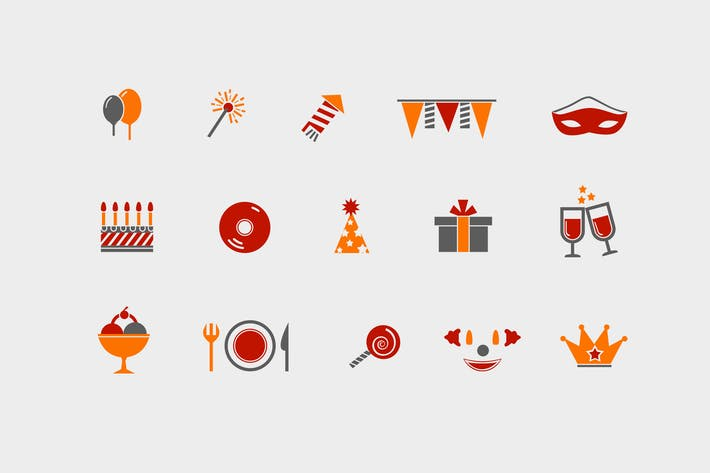 Thumbnail for 12 Party and Celebration Icons