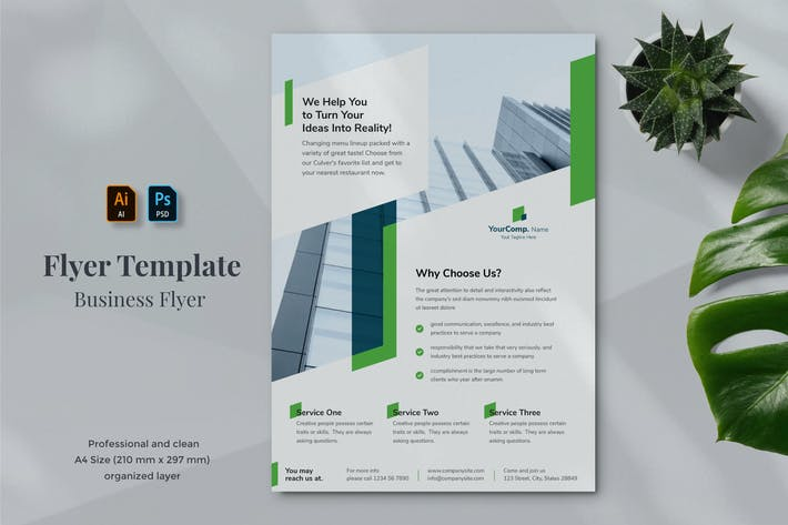 Thumbnail for Business Flyer Template 17