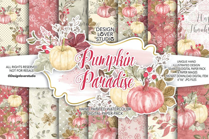 Thumbnail for Pumpkin Paradise digital paper pack