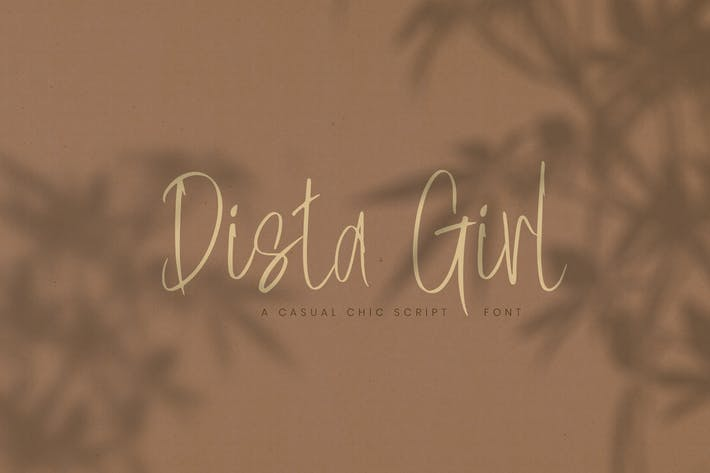 Thumbnail for Dista Girl | Casual Chic Script police