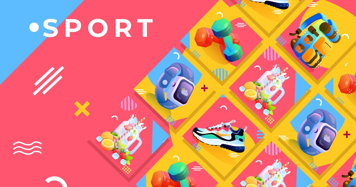 Download Sport Set - Product Promo Vol.2 by Graphiqa